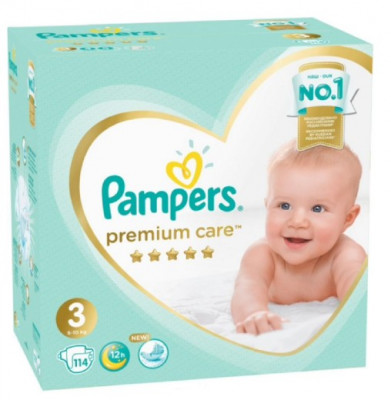 Pampers Premium Care 3 (6-10 кг) 114 шт