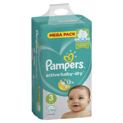Pampers Active Baby-Dry 3 (6-10 кг) 124 шт