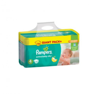 Pampers ActiveBaby-Dry 4 (8-14 кг) 106 шт