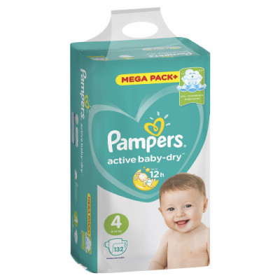 Pampers Active Baby 4 (9-14 кг) 132 шт.