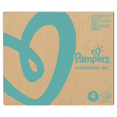 Pampers Active Baby-Dry 4 (8-14 кг)174 шт