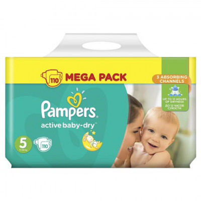 Pampers Active Baby-Dry 5 (11-16кг) 110шт